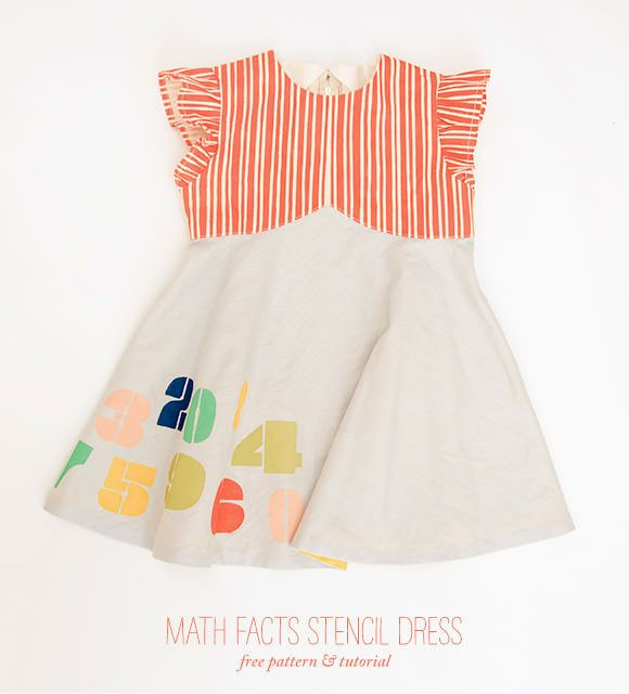 free pattern DIY Math Facts Stencil Dress