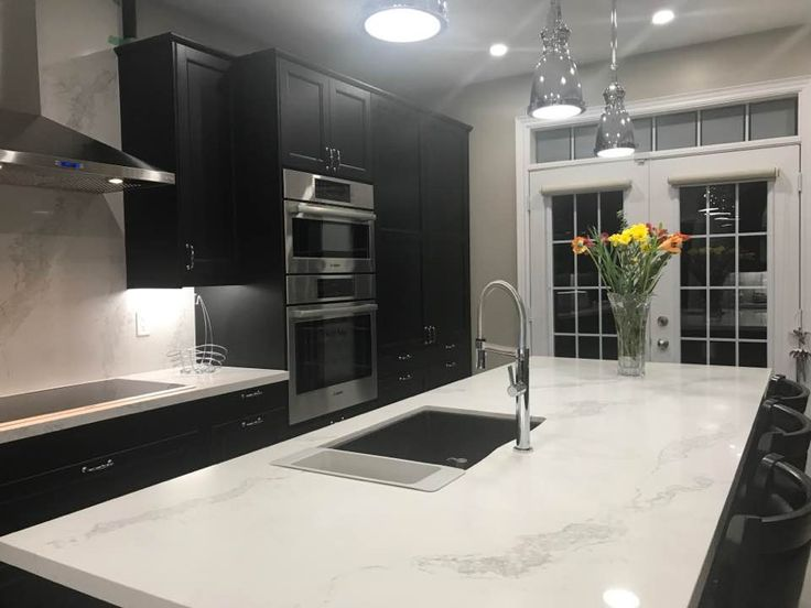 Love Our Caesarstone Statuario Maximus Quartz Island