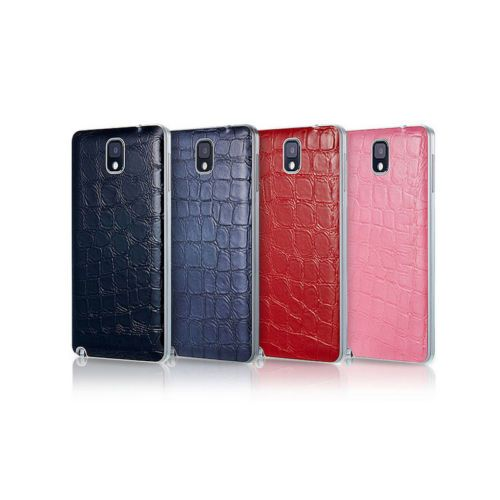 [Anymode] Galaxy Note 3 Battery Cover Protective Case Croco Pattern 4 Colors(Black, Dark Blue, Red, Pink)