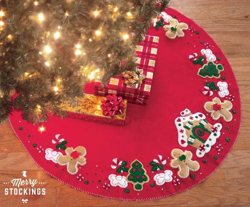 Gingerbread House Bucilla Christmas Tree Skirt