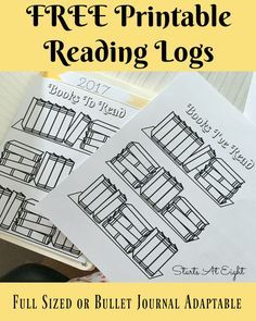 FREE Printable Reading Logs from Starts At Eight. Looking for a cute printable book log? These FREE Printable Book Logs can be printed as a full page for kids or adjusted for your bullet journal.