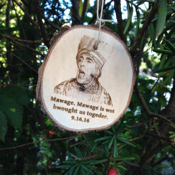 Personalized Anniversary / Engagement / Newly Wed Christmas Ornament inspired by the Princess Bride