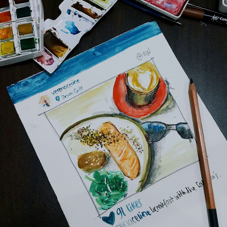 #watercolour #food #sketch #traditionalpainting #foodsketch