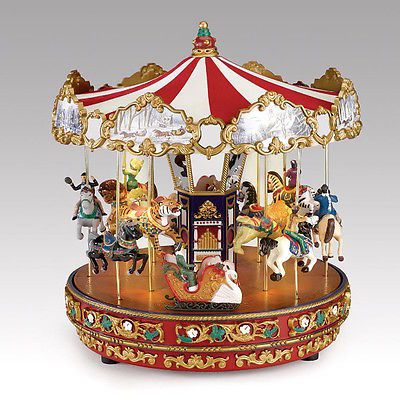 The Grand Carousel Music Box w/Moving Horses-See VIDEO!