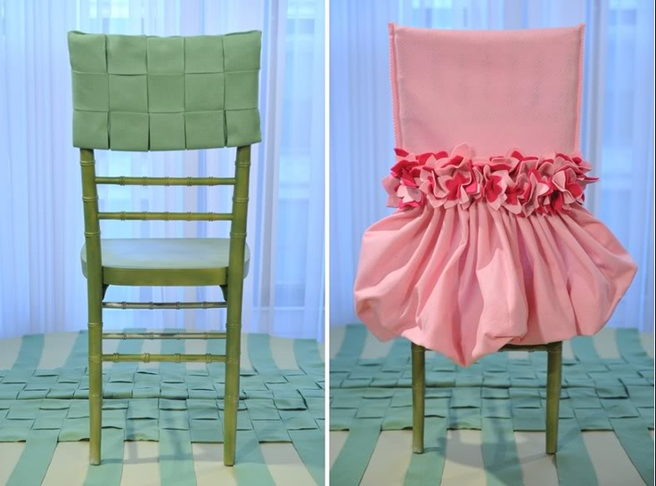 Love These Chair Cover Ideas! So Much Prettier Than Those Fabric Covers  Always Draped Over