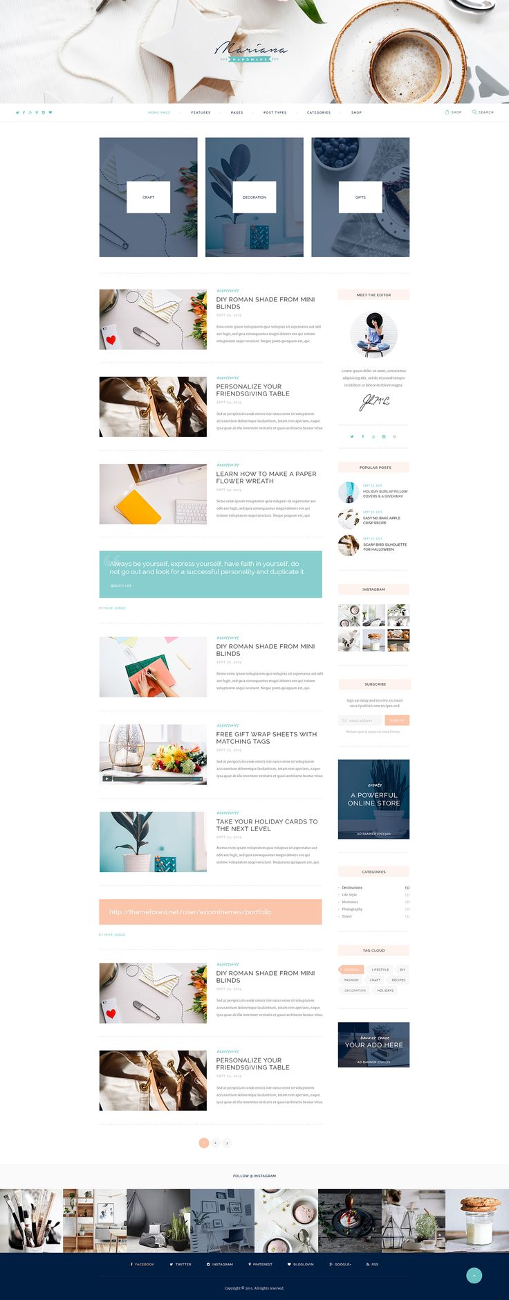 ThemeREX team is super happy to introduce you the new WordPress theme. With Mariana, bloggers finally have all tools they might need, at hand!