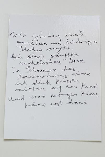 """.  .  .    die Postwegliteraturgrußkarte """"nach Forellen angeln""""  eine superschöne Karte für den Liebsten oder die Liebste.    von Sophia A. K.    .  s"""