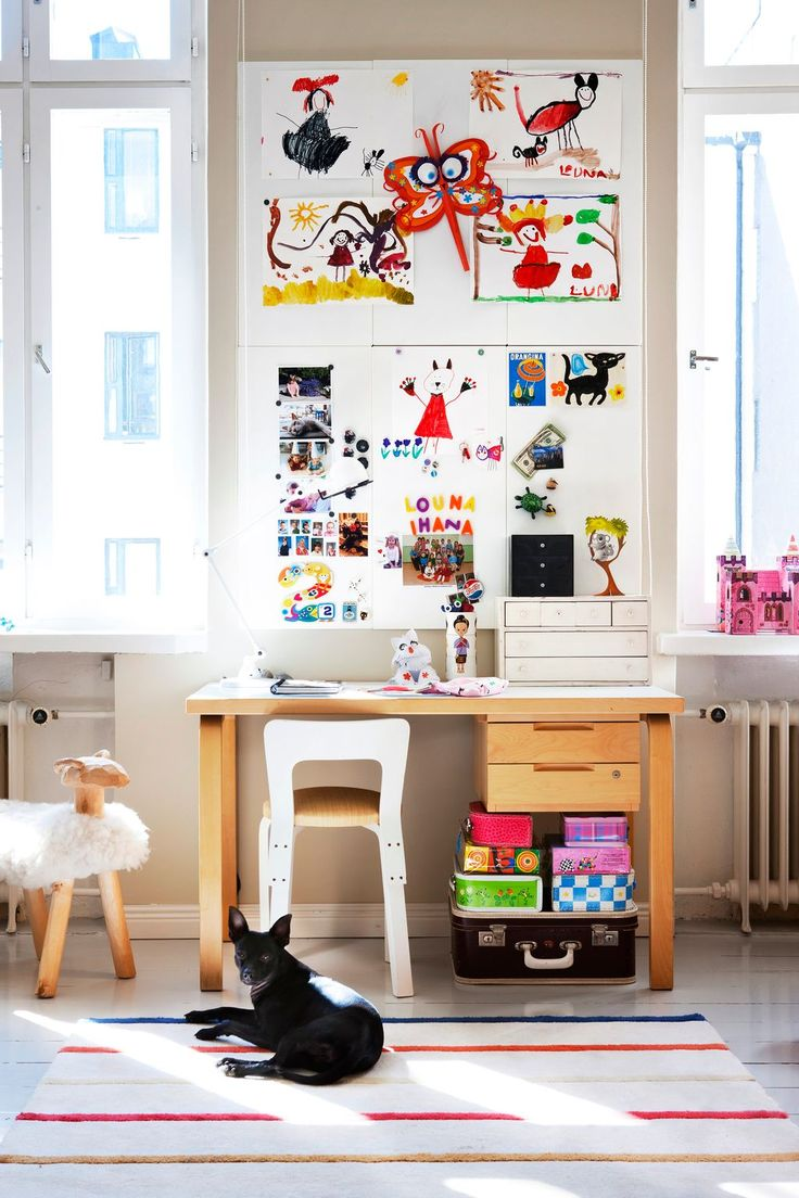 Children's room - Magnet boards for drawings - Via Scandinavian Deco