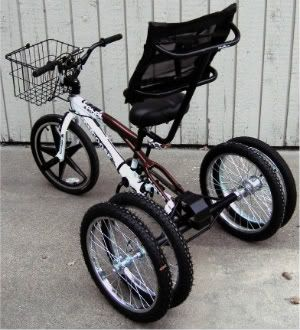 how to turn a bicycle into a trike