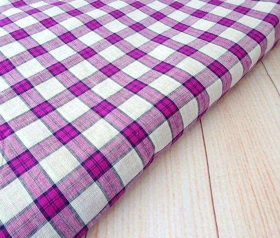 "Shot cotton fabric, check cotton fabric, handwoven indian cotton fabric, purple gingham, half yard   ₹150.00 shot cotton fabric, Indian handwoven cotton fabric suitable for apparel, quilts, bag, pouch, pillow, table linen, etc 100%cotton Width 44 inch (110 cm) Listed for HALF YARD 18""X44"". Purchasing more th... http://shop.chezvies.com/#!/Shot-cotton-fabric-check-cotton-fabric-handwoven-indian-cotton-fabric-purple-gingham-half-yard/p/83899947"