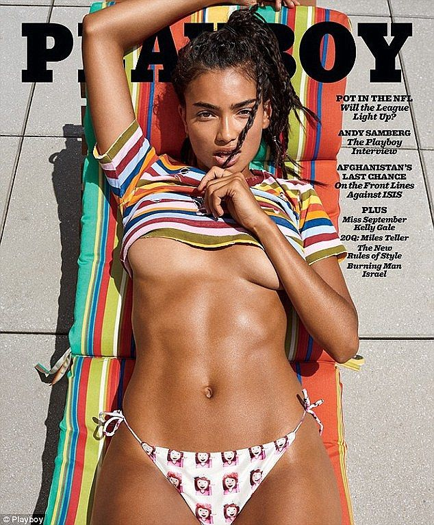 Racy: The US-based stunner showed plenty of skin on the September cover of Playboy...