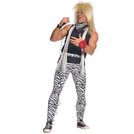 80's Rocker Adult Halloween Costume, Men's, Multicolor