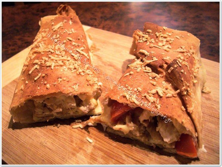 Αραβικές πίτες σε ρολάκια