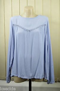 Size XL 16 Supre Ladies Blue Casual TOP Boho Peasant Hippie Layer Loose | eBay