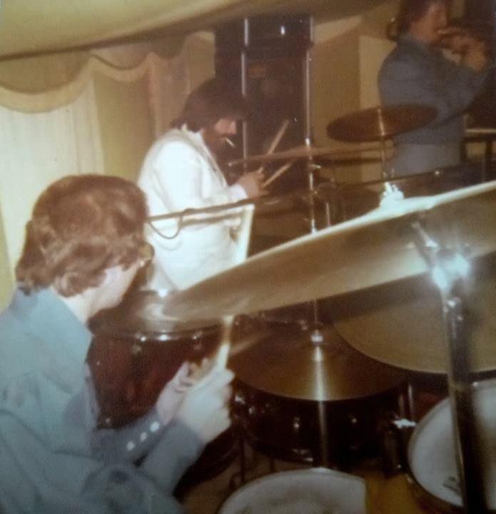 John Bonham circa 1978   at a charity gig in Chelsea   | Led