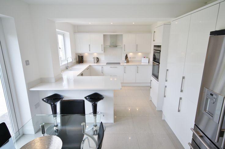 9 besten Bright White Gloss Kitchen Design Bilder auf Pinterest ...