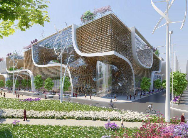 Les 25 meilleures id es concernant architecture durable for Architecture futuriste ecologique