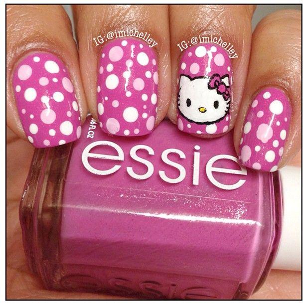 imichelley HELLO KITTY #nail #nails #nailart