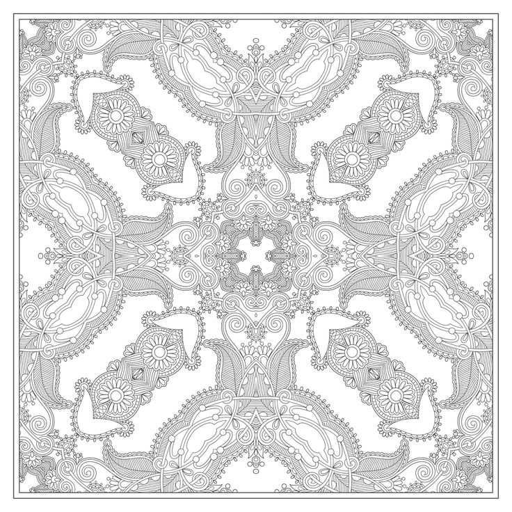 free squared mandala coloring page
