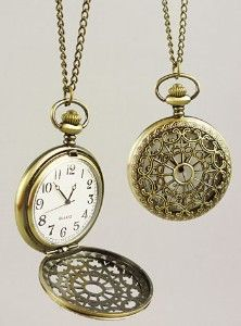 vintage pocket watch necklaces