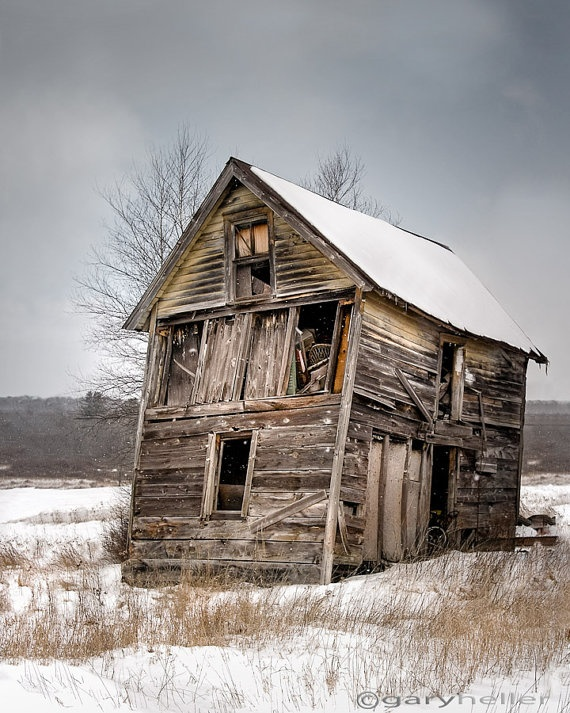 Portrait of Old Shack Old Barn Photograph by garyhellerphotograph, $39.00
