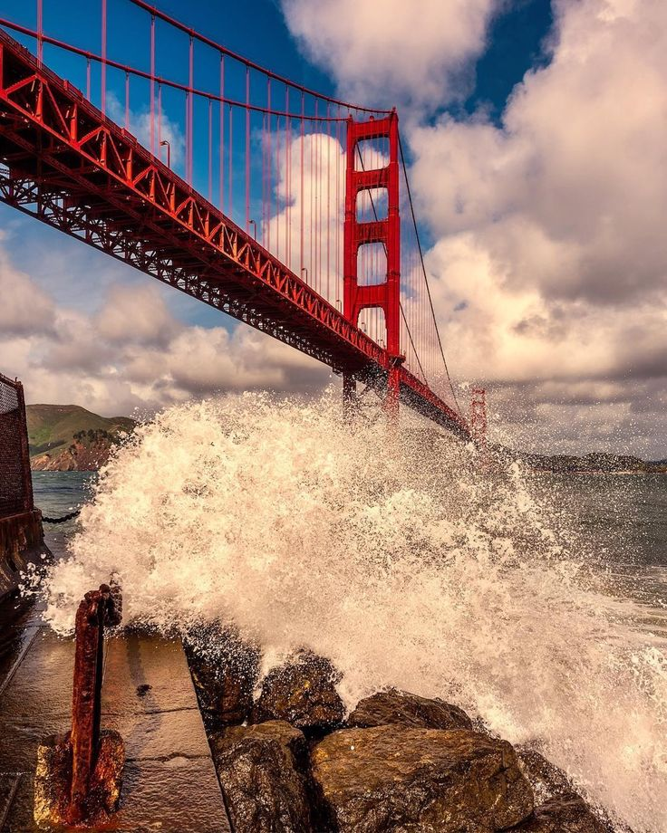 Golden Gate Bridge by Bruce Getty #sanfrancisco #sf #bayarea #alwayssf #goldengatebridge #goldengate #alcatraz #california