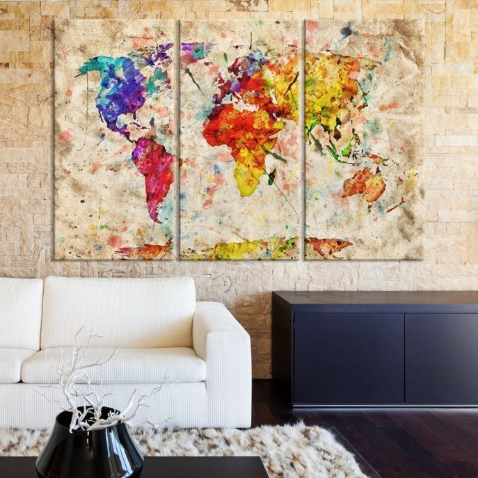 40 best World Map Canvas images on Pinterest Extra large wall art - best of world map white background