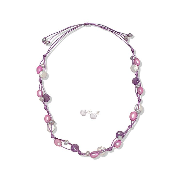 Set Valero Pearls și Sakura Pearl Veselie de Vacanță (cercei, colier)