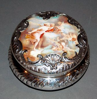 19th century French ♥ sterling silver jewelry box