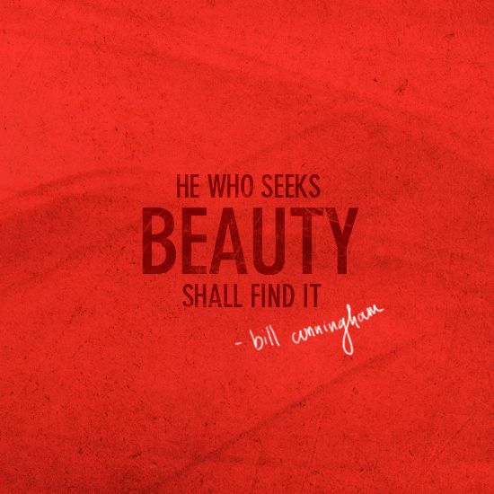 seek beauty
