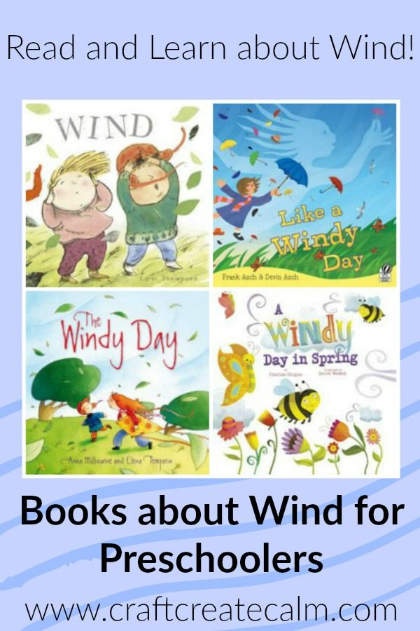 Children's books to learn about the wind. Perfect list for preschoolers