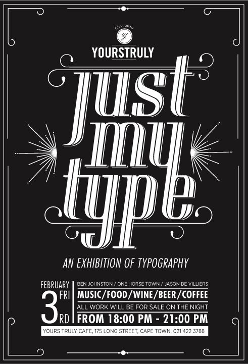 Just My Type Exhibition by Ben Johnston, via Behance