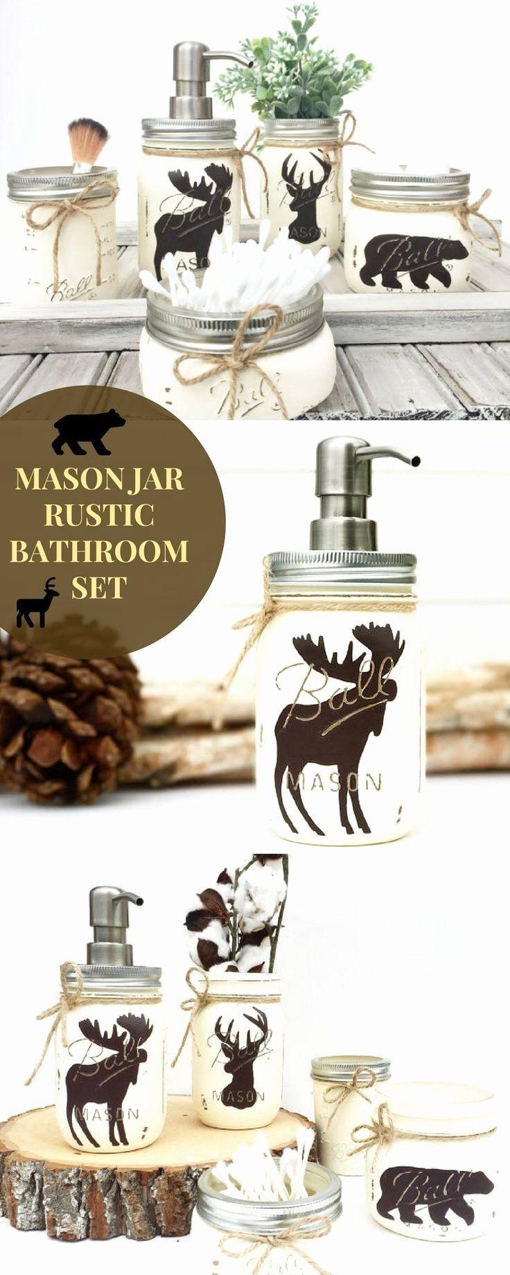 Bear and Moose Bathroom Decor Lovely Mason Jar Bathroom Set Rustic