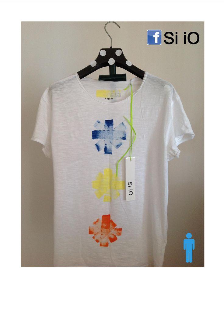 T-shirt Si iO DA UOMO DIPINTA A MANO