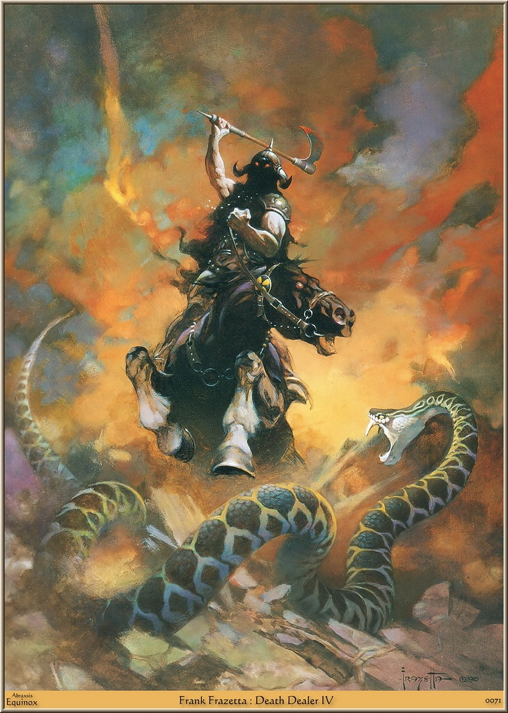 Death Dealer IV by Frank Frazetta