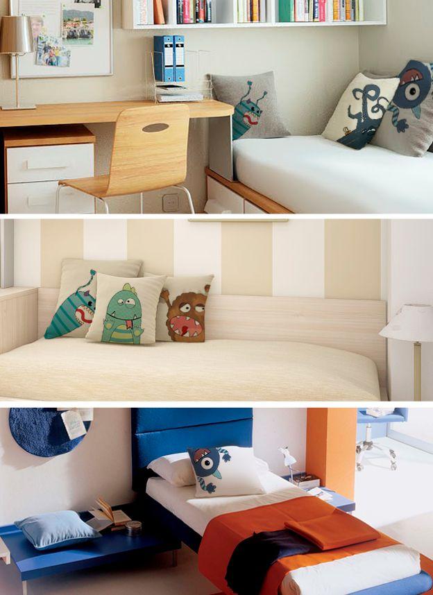 ¡Decora el cuarto de lo pequeños de la casa con divertidos cojines monstrusosos!