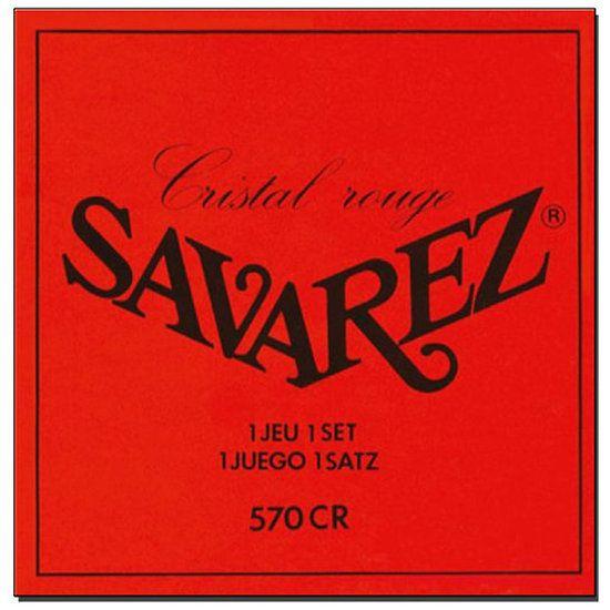 Jeu Cordes Guitare Classique Fort Tirant Cristal Rouge Savarez 570CR