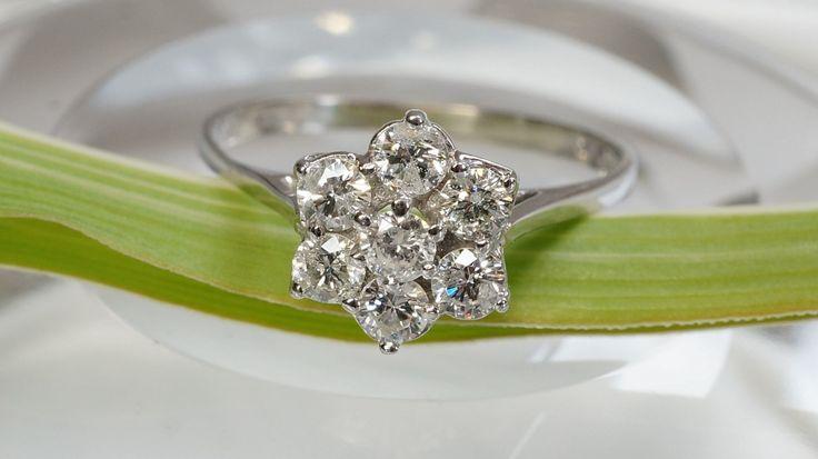 Flor diamante anillo  anillo de diamante anillo de compromiso