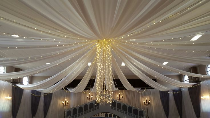 Draping combined with lighting for matric dance.