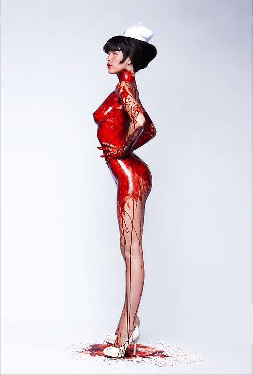 its red paint - inspiration for SexyMuse.com -
