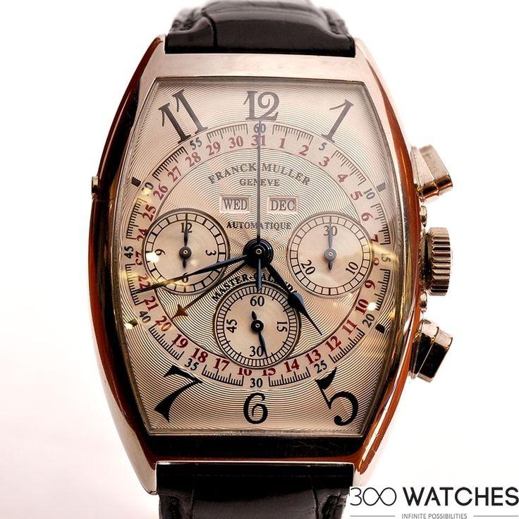 Mens Franck Muller Platinum Master Calendar Annual Chronograph   chronograph watches for men   300watches