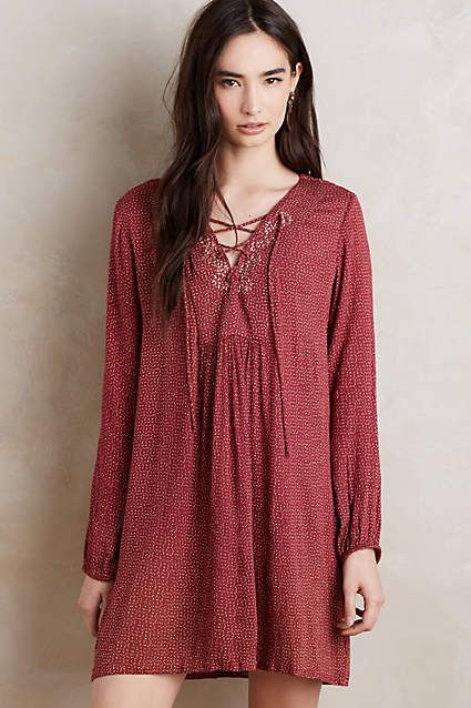 Laced Peasant Dress - #anthroregistry
