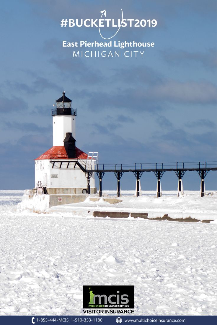 The East Pierheadlighthouse In Michigancity Michigan Is A Sight