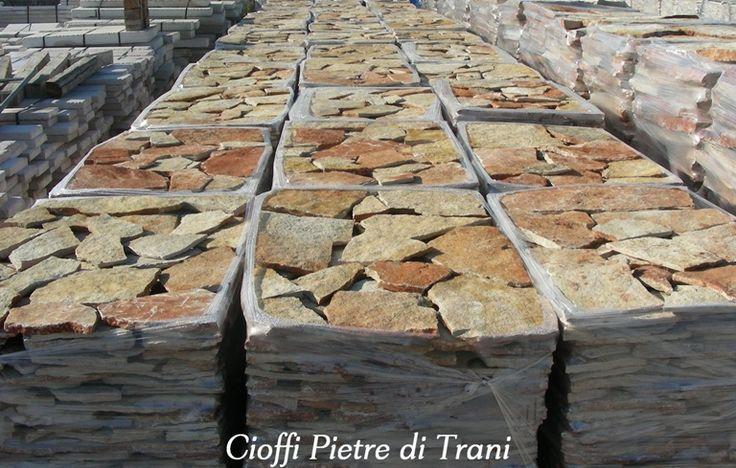 Scorza in pietra di trani classica da rivestimento spessore cm. 1 ...