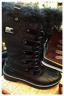 Sorel glitter snow boot for women.