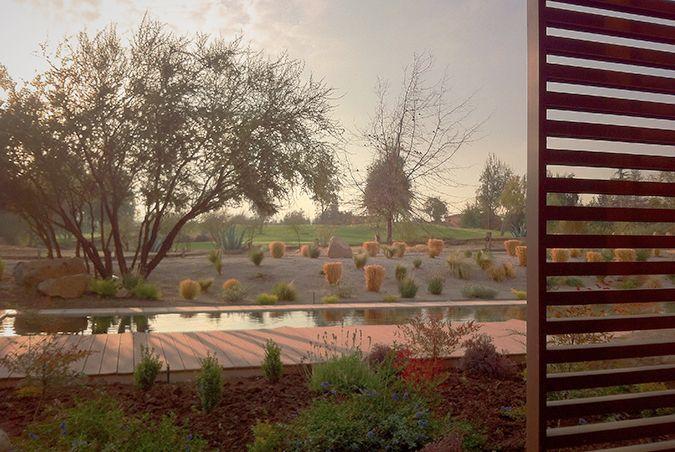 Vista a las canchas de golf desde la casa de Ignacio Henríquez.