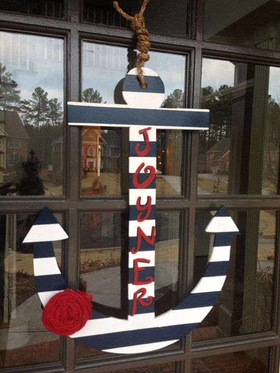 17 best images about anchors on pinterest anchor for Anchor door decoration