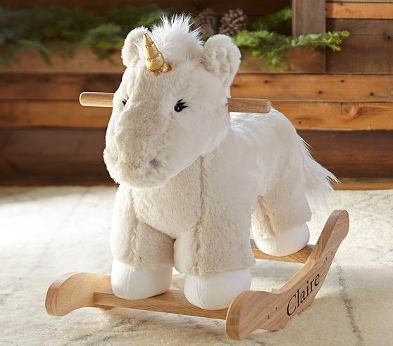 Nursery Unicorn Faux Fur Plush Rocker | Pottery Barn Kids