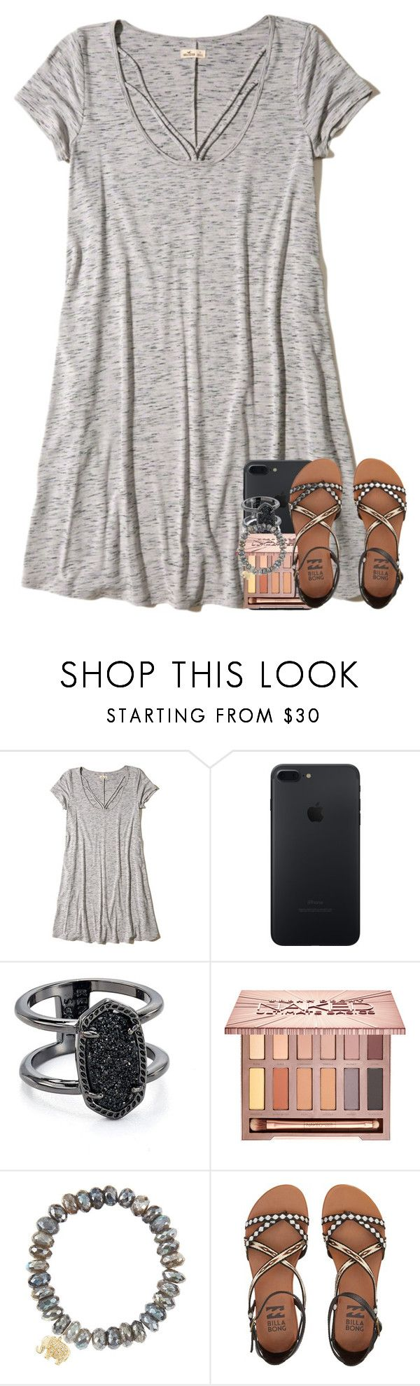 """you know those rumors get to flyin' in a town this size"" by preppymilitarybrat ❤ liked on Polyvore featuring Hollister Co., Kendra Scott, Urban Decay, Sydney Evan and Billabong"