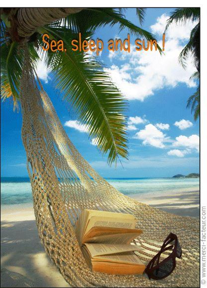 #carte #aout #vacances #piscine #plage #voyage #tourisme #relax #repos #soleil Carte Sea, sleep and sun pour envoyer par La Poste, sur Merci-Facteur !